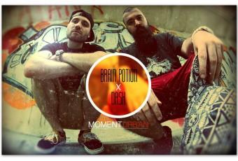 Brain Potion x Dj Dash - Moment urban - ARTWORK