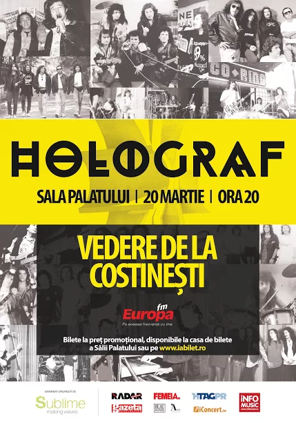 """{focus_keyword} """"Vedere de la Costinești"""" - un nou eveniment Holograf Afis  HOLOGRAF SALA PALATULUI 20martie"""