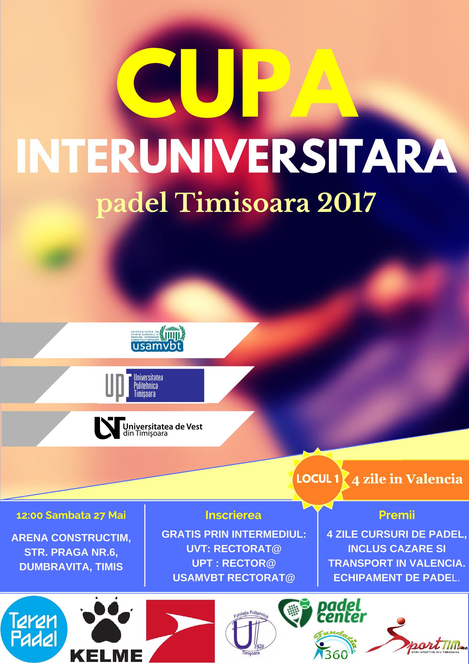 {focus_keyword} Participa la cupa interuniversitara de padel si poti vizita Valencia! afis cupa universit padel