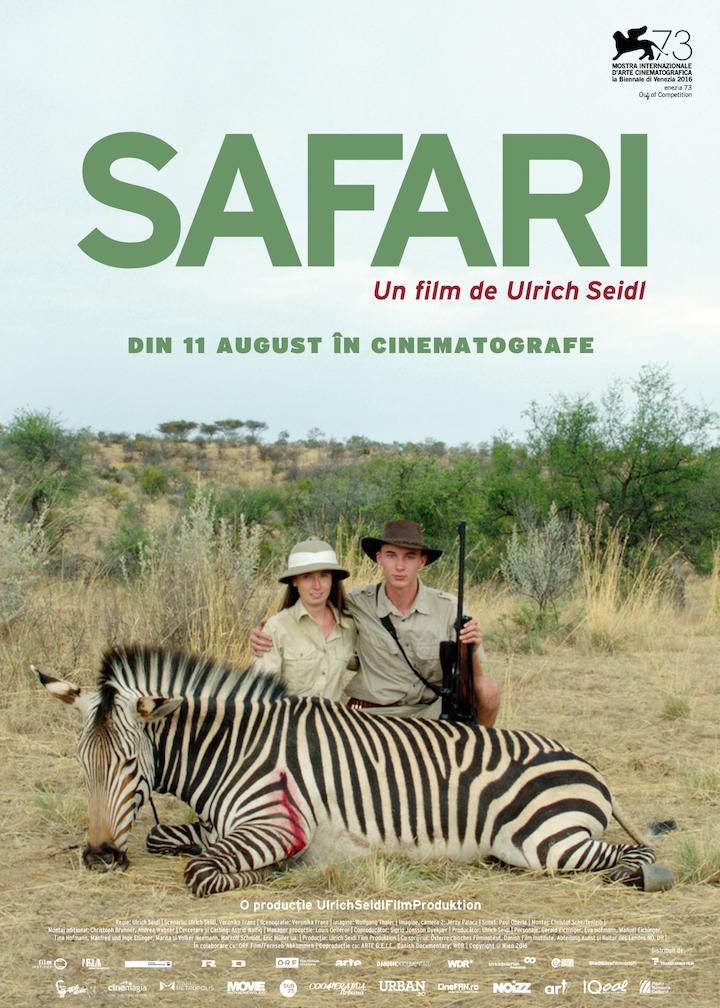 """{focus_keyword} """"Safari este genul de film pe care nimeni nu l-ar face"""" SEISAF Poster RO"""