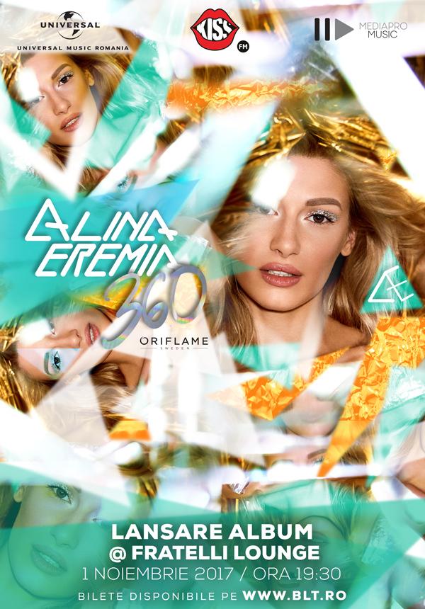 {focus_keyword} Alina Eremia lanseaza primul album din cariera, printr-un concert eveniment! poster alina 360 FLAT