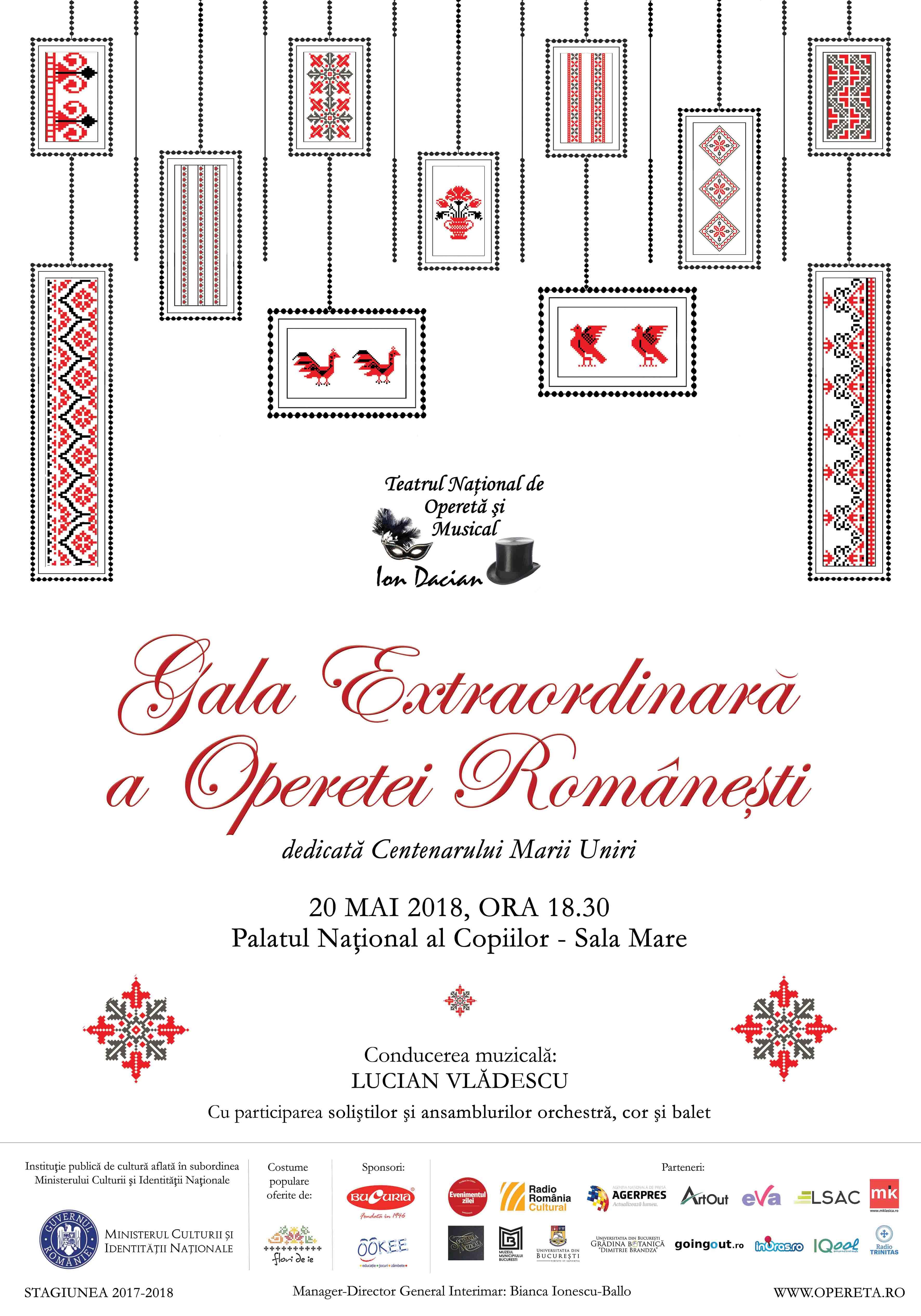 """{focus_keyword} """"Gala Extraordinară a Operetei Românești"""" - 20 mai, 18:30, Palatul Național al Copiilor – sala mare GALA OPERETEI ROMANESTI 1"""