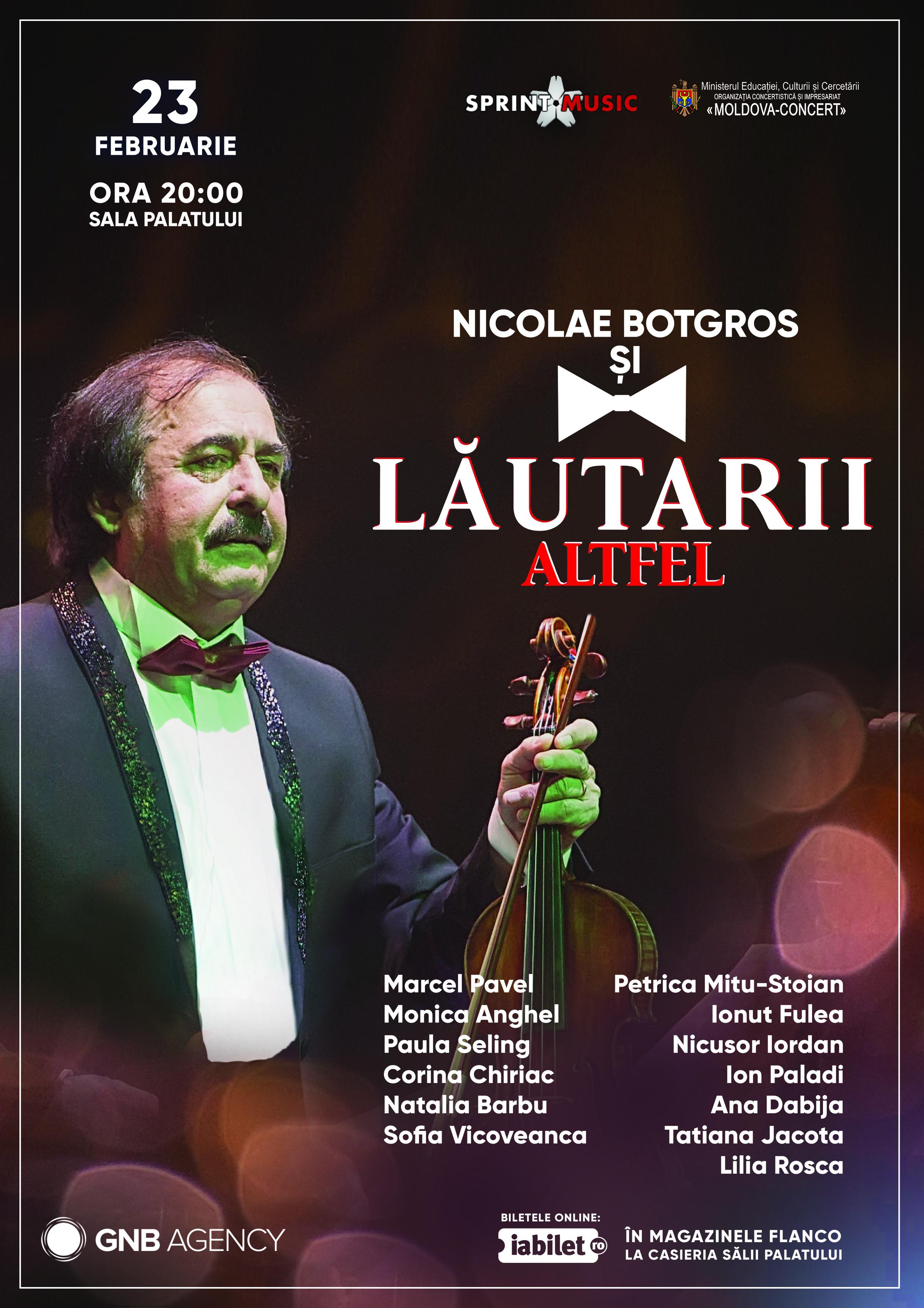 """{focus_keyword} Nicolae Botgros și orchestra """"Lăutarii """" susțin grandiosul spectacol """"Altfel"""" la începutul lui 2019! Lautarii Altfel"""