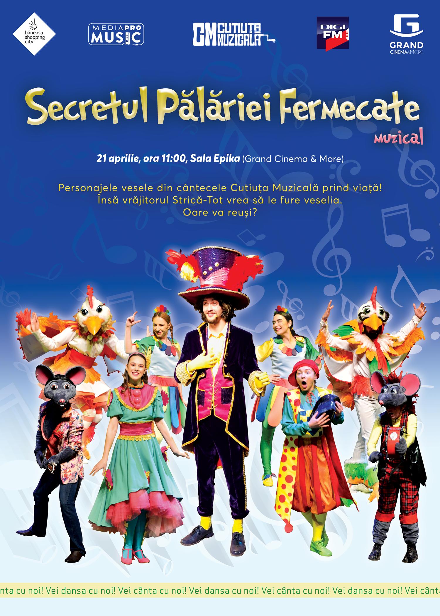 """{focus_keyword} Primăvara continuă cu o nouă reprezentaţie marca """"Secretul Pălăriei Fermecate"""" – un musical de excepţie pentru copii e6c9b6d0 84e7 4e60 9c28 a68b14291667 1"""