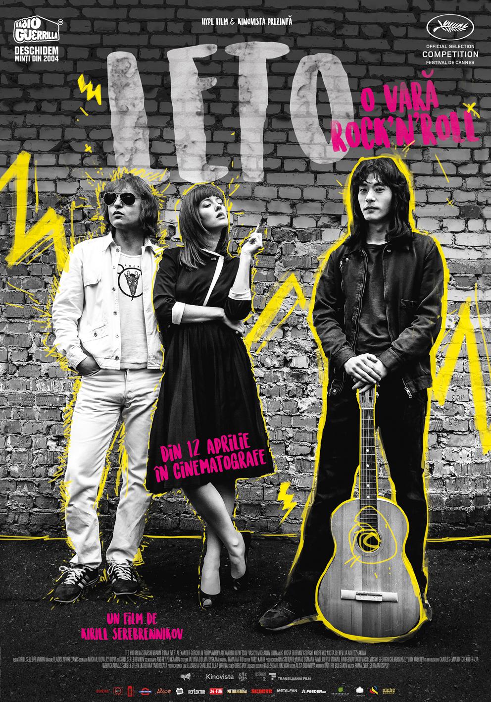 {focus_keyword} Leto / O vară rock'n'roll: scena undergound sovietică vine pe marile ecrane din România Leto O vara rocknroll afis