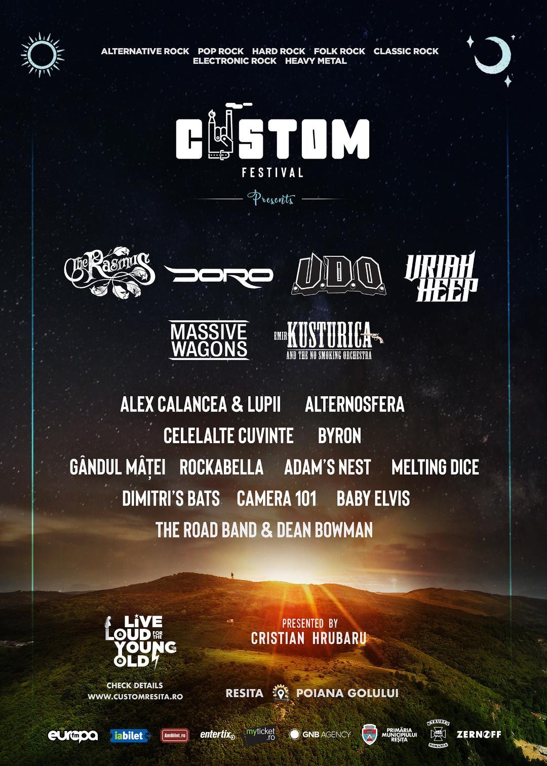 {focus_keyword} Custom Reșița susține și promovează rock-ul românesc Afis Custom Resita Festival