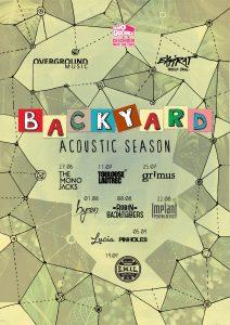 {focus_keyword} Seria de concerte acustice Backyard Acoustic Season continuă vara aceasta pe terasa Expirat Halele Carol. Din line-up fac parte The Mono Jacks, Robin and the Backstabbers, byron, Grimus și alții general