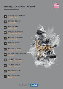 {focus_keyword} Trupa byron anunță turneul de lansare a noului album. The Mono Jacks - invitati speciali la concertul de la Bucuresti byron turneu