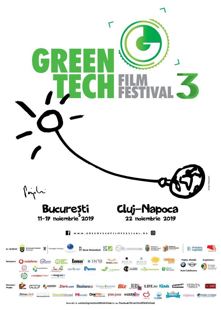 {focus_keyword} Ţările nordice, lideri europeni în inovaţie şi combaterea schimbărilor climatice, vin la GreenTech Film Festival Poster GreenTechFest2019