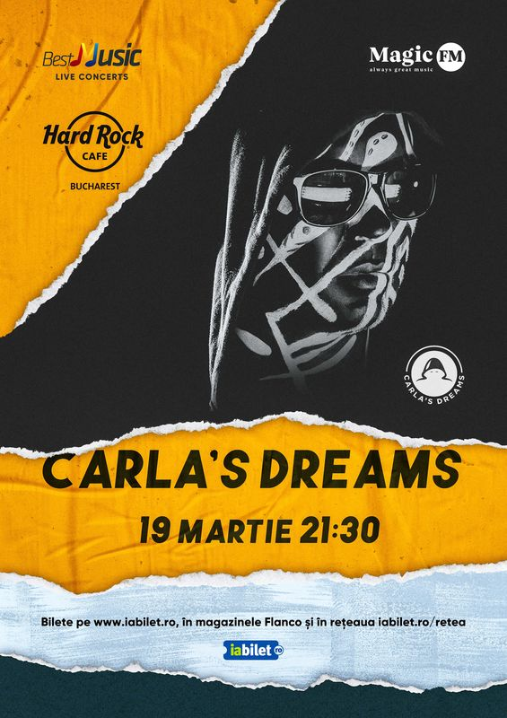 {focus_keyword} Concert Carla's Dreams la Hard Rock Cafe pe 19 Martie c1eed6b6 68eb 4b35 a9f3 47866468f464