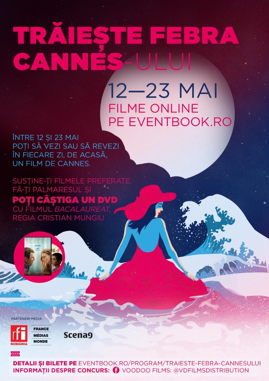 {focus_keyword} Trăiește febra Cannes-ului! Filme online între 12 și 23 mai pe platforma Eventbook afis febra cannes A4