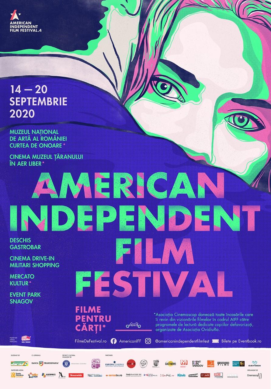 {focus_keyword} Întâlniri online cu invitații American Independent Film Festival! Proiecțiile de la Muzeul Național de Artă al României au loc în Curtea de Onoare AIFFposter